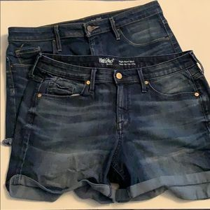 2 pair of denim Mossimo shorts